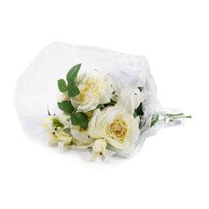 Peony Bouquet di rose e gigli bianchi in confezione regalo - QVC Italia