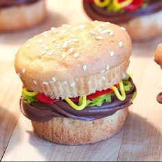 Cupcake burger. lol i so make these at work during the summer :)