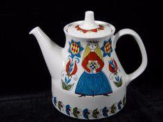 Vtg Figgjo Flint Saga Norsk Design Teapot With Lid Norwegian Pottery, HTF, GC   eBay