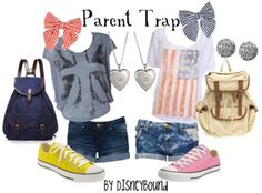 The Parent Trap outfits by Disney Bound