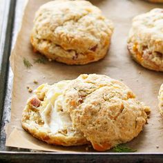 Ham-and-Cheddar Scones From Better Homes and Gardens, ideas and improvement projects for your home and garden plus recipes and entertaining ideas.