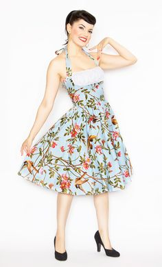 *Swapped* Bernie Dexter Frenchie Halter Dress Sparrows - Sz XL Only interested in swapping for another BD or a Jenny from PUG or selling for $80 shipped