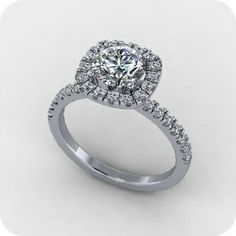 Beautiful Petra @ Etsy...gorgeous Center Diamond info: EGL CERTIFIED 1.61 carat Clarity: SI2 Color: G.
