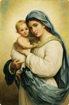Maria met baby Jezus.