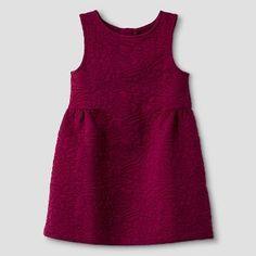 Baby Girls' Jacquard Quilted Dress Red - Genuine Kids™ from OshKosh®