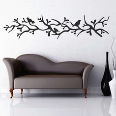 Branch with Birds Wall Decal | Trendy Wall Designshttp://www.trendywalldesigns.com/Branch-with-Birds-Wall-Decal_p_1163.html