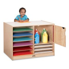 LOCKABLE PAPER ISLAND - Mobile island to organize all sizes of construction paper.