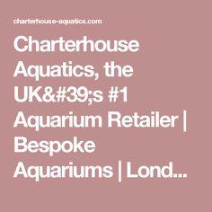 Charterhouse Aquatics, the UK& Aquarium Retailer Freshwater Aquarium, Aquariums, Tropical Fish, Fresh Water, Bespoke, Retail, London, Live, Shop