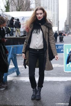 #NYFW FALL/2013 STREET STYLE  MODELS OFF DUTY 1
