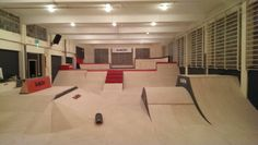The East Midlands is getting a fresh new indoor skatepark for everyone to get their sheltered shred on, the name; We've posted some images. Slab City, Skate Park, Playgrounds, Skateboarding, Skating, Business Ideas, Warehouse, Retail, Indoor