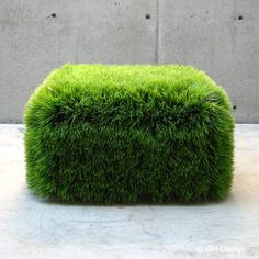 Grass Ottoman (it's plastic) - cool for the roof terrace.