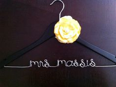 Bridal Hanger  EBONY  Personalized with by HandcraftedAffairs, $28.00