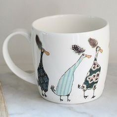 Anna Wright ladies who lunch york shaped fine bone china mug Anna Wright, Ladies Who Lunch, China Mugs, Mixed Media Collage, Bone China, Textiles, York, Shapes, Design