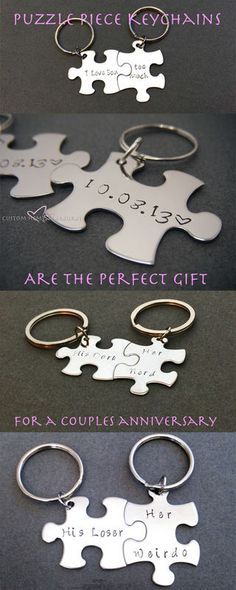 Anniversary Gifts for him, Puzzle Keychains, Gifts for guys, Gift Ideas for Boyfriend Girlfriend, Gift for Boyfriend