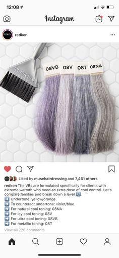 Hair Color Formulas, Redken Color Formulas, Pretty Hairstyles, Baddie Hairstyles, Natural Hairstyles, Summer Hairstyles, Redken Hair Color, Redken Hair Products, Hair Dos