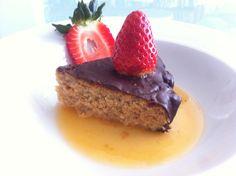 Pastel de almendra y chocolate