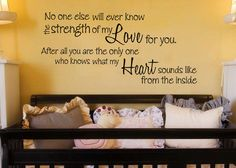 No one else will ever know the strength love by GrabersGraphics, I would love to put this in one of my kids' room one day or a playroom
