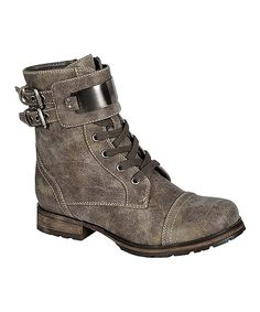 This Breckelle's Taupe & Silver Biker Boot by Breckelle's is perfect! #zulilyfinds
