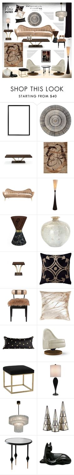 """""""Untitled #811"""" by louise-stuart ❤ liked on Polyvore featuring interior, interiors, interior design, home, home decor, interior decorating, Bomedo, Bellagio, ELK Lighting and Hermès"""