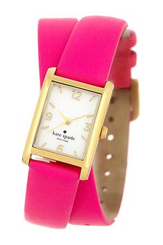 leather wrap strap watch by kate spade new york