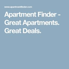 Apartment Finder - Great Apartments. Great Deals.
