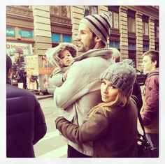 Jessie James Decker (with husband Eric Decker and baby Vivi)