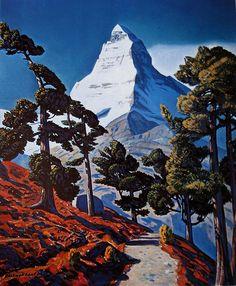Matterhorn c.1958 oil on canvas by Rockwell Kent (1882-1971)