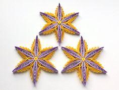 Snowflakes Yellow Purple Christmas Tree Decoration Winter