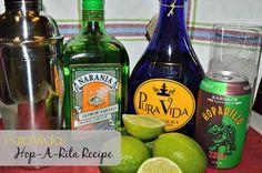 Pura Vida Hop-a-Rita Tequila Recipe Rita Recipe, Tequila Recipe, Party Drinks, Beer Bottle, Good Times, Recipes, Pura Vida, Recipies, Beer Bottles