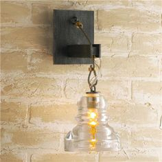 Reproduction Insulator Glass Sconce