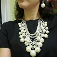 Shop Fashion Jewelry, Trendy Jewelry, Inexpensive Jewelry, Jewelry, Pearl Necklace, Chunky Necklace, BIB Necklace, Layer Necklace