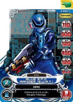 BLUE space patrol delta ranger power card