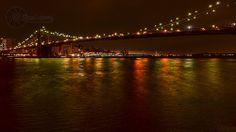 Brooklyn Bridge light wash on the East River