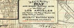 Security map of Los Angeles (1908) - #LA #LosAngeles - http://www.bigmapblog.com/2012/security-map-of-los-angeles-1908/