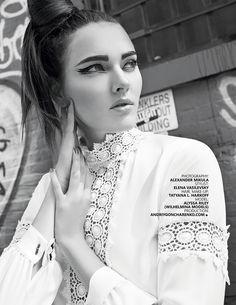 October 2015 INLOVEMAG,Rufina shirt FW15 #annefontaine #fashion #whiteshirt