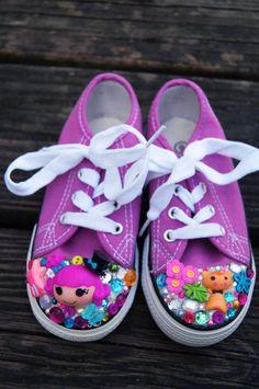 Toddler Size 9 Harmony B. Sharp Purple Kawaii Lalaloopsy Shoes. $38.00, via Etsy.