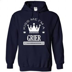 Kiss Me I Am GRIER-gsrdnksxtm - #shirts for tv fanatics #shirt print. PURCHASE NOW => https://www.sunfrog.com/Names/Kiss-Me-I-Am-GRIER-gsrdnksxtm-NavyBlue-42176089-Hoodie.html?68278