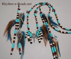 Rhythm-n-Beads® by Deborahlynn by RhythmnBeads Horse Necklace, Horse Jewelry, Beaded Necklace, Necklaces, Horsehair, Happy Trails, Feathers, Tassels, Pendants