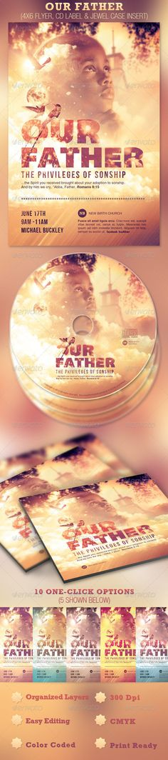 Our Father Flyer and CD Template — Photoshop PSD #inspiks #adoption • Available here → https://graphicriver.net/item/our-father-flyer-and-cd-template/2369180?ref=pxcr