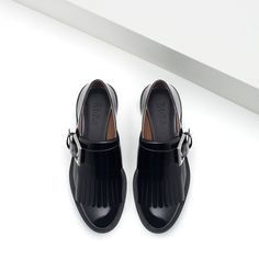 Designer Clothes, Shoes & Bags for Women Zara Flats, Zara Shoes, Black Loafer Shoes, Loafer Flats, Flat Shoes, Oxford Flats, Slingback Pump, Winter Shoes, Loafers For Women