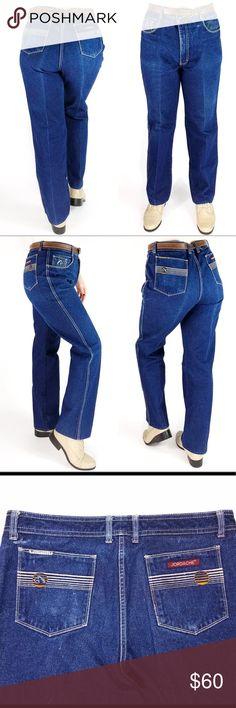 26b41deefa96 80s Vintage Jordache High Waisted Blue Jeans Denim Late 70s   early 80s  Jordache blue jeans
