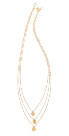 Three chain gold necklace