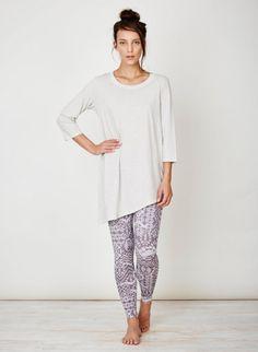 cb03f6595ff0e Rosa Organic Cotton Jersey Tunic Thistle Cotton Tunics