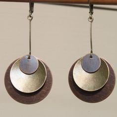 Boho pendientes pendientes bohemio pendientes cobre latón pendientes pendientes mixtos joyería pendientes de Metal