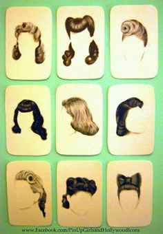 pin up hair ideas (if we wanted to go that route) lol