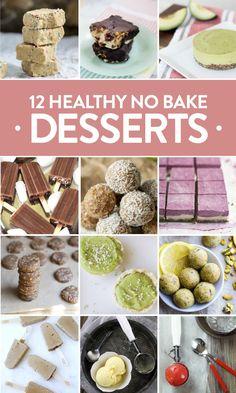 Healthy No Bake Desserts for Summer (Eating Bird Food) Summer Dessert Recipes, Healthy Summer Recipes, Party Desserts, Healthy Dessert Recipes, Health Desserts, Healthy Baking, No Bake Desserts, Vegan Desserts, Delicious Desserts