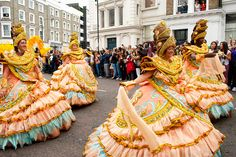 Enjoy the vibrant Notting Hill Carnival in London this August as the streets will be filled with elaborate costumes!
