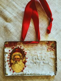 A letter to Santa is a keepsake. This hanging folk art Santa will be in your family for generations. It is always nice to get out the holiday