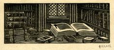 Still life of books, Phyllis Gardner, ca.1912, British Museum