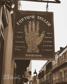 Fortune Teller sign photo from New Orleans French Quarter